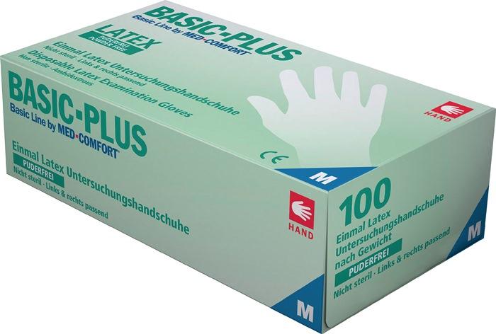 Ampri guantes desechables Basic plus talla L beige pálido látex en 455 psa-categoría I