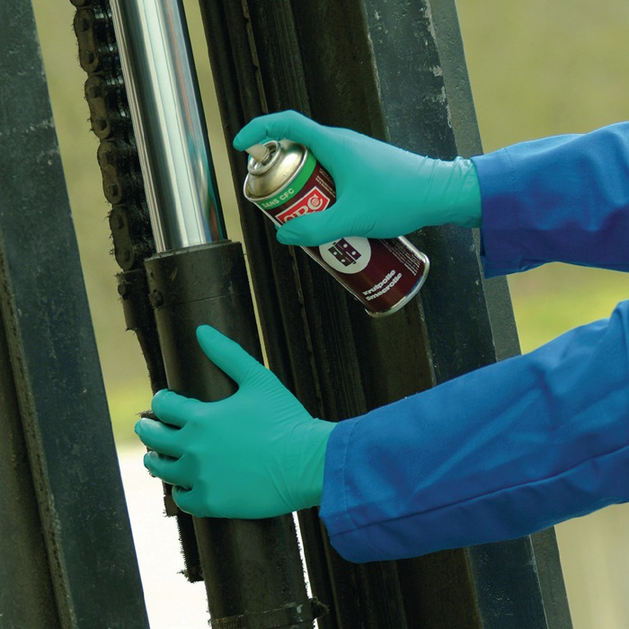 Ansell guantes desechables touchntuff 92-600 talla 7 1/2-8 verde en 374 psa-kateg...